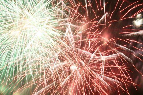 fireworks rockets explosion