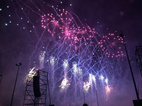 fireworks valencian community castle