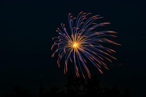 fireworks flare-up celebration