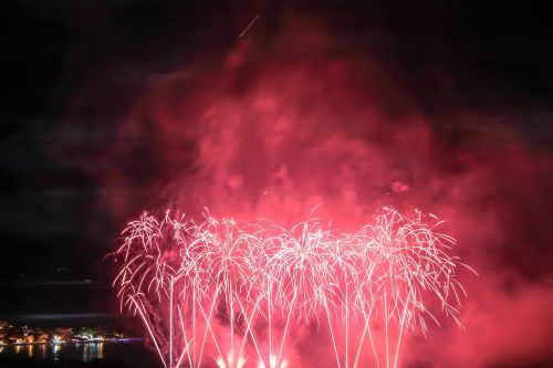 fireworks blast light