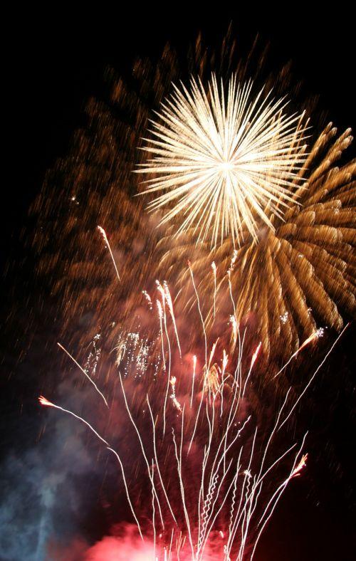 fireworks rocket light