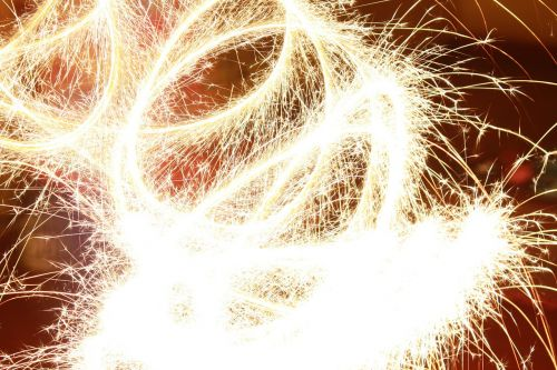 fireworks light brightness