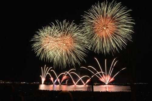 fireworks rocket night