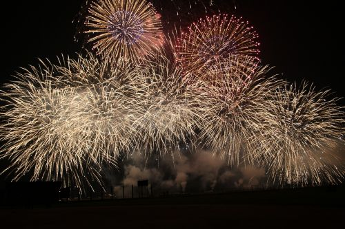 fireworks spectacle colorful