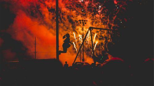 fireworks smoke light show