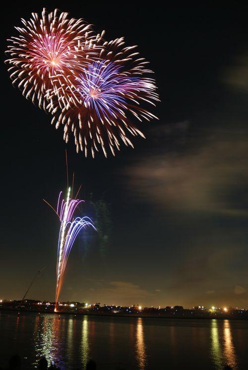 fireworks hanabi colorful