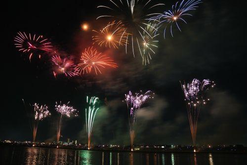 fireworks colorful sky
