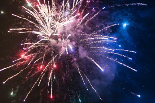 fireworks sparkle sky