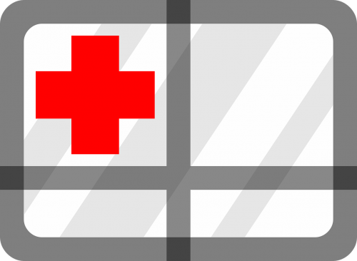 first aid red