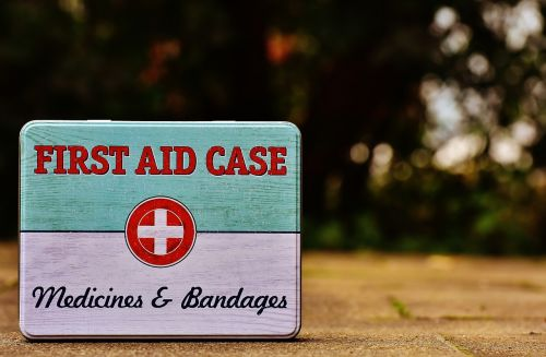 first aid box tin can