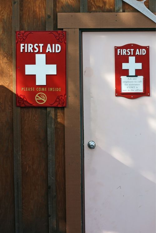 first aid station door