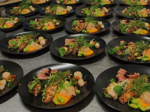 first course tuna salmon