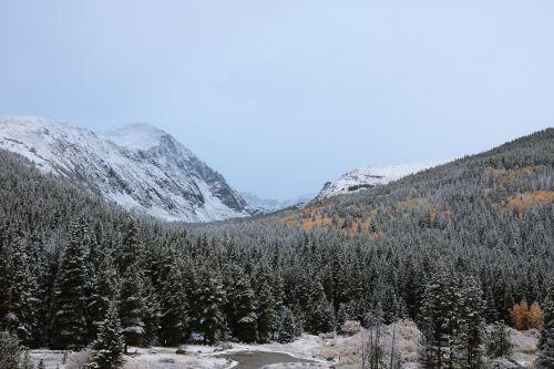 first snow snowy mountains mountain