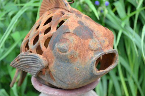 fish rustic antique