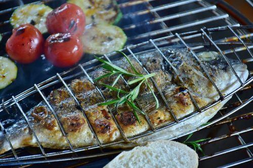 fish sea bream barbecue