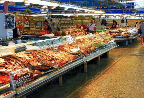 fish fish market sales stand