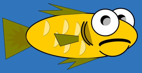fish goldfish cartoon