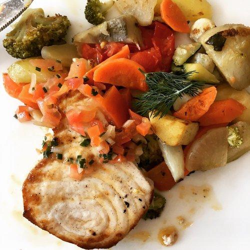 fish  swordfish  small vegetables