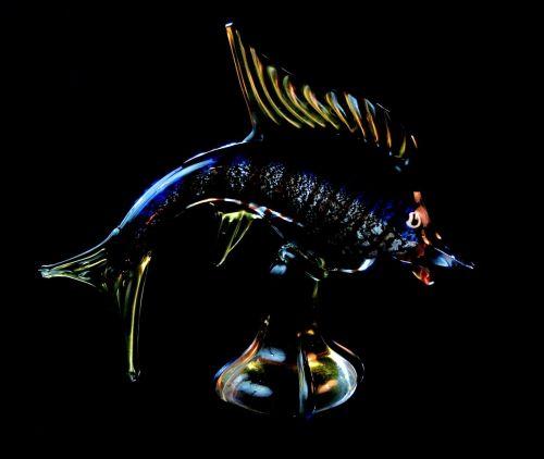 fish venetian glass souvenir