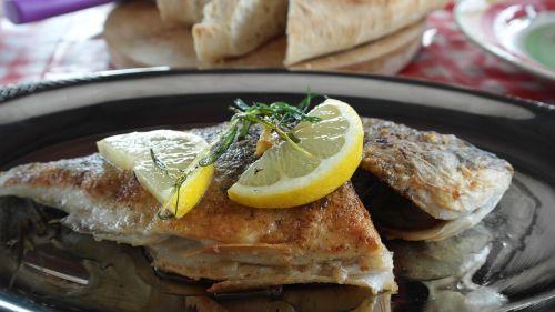 fish sea bream fried