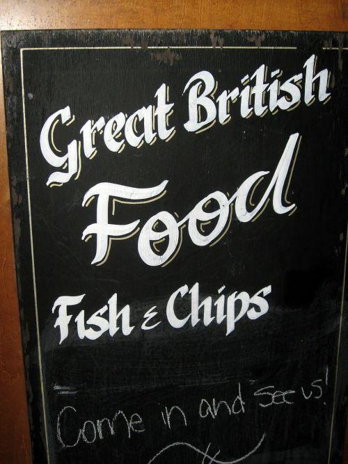 fish and chips billboard restaurant