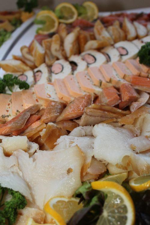 fish plate cold buffet buffet