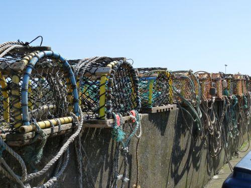 fish traps sea fish