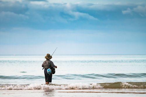 fisherman ocean female