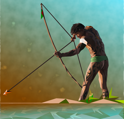 fisherman  native  bow and arrow