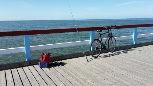 fisherman, fishing rods, sea, baltika, palanga, lithuania
