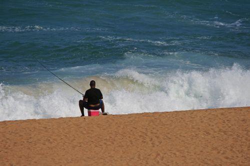 Fisherman Beside The Sea