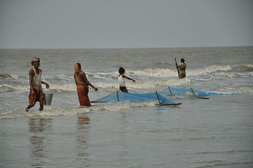 fishermen fishing sea