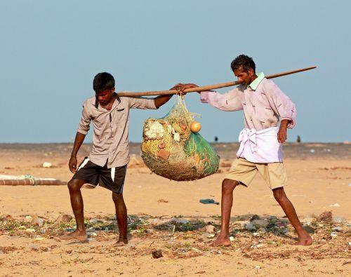 fishermen nets ocean