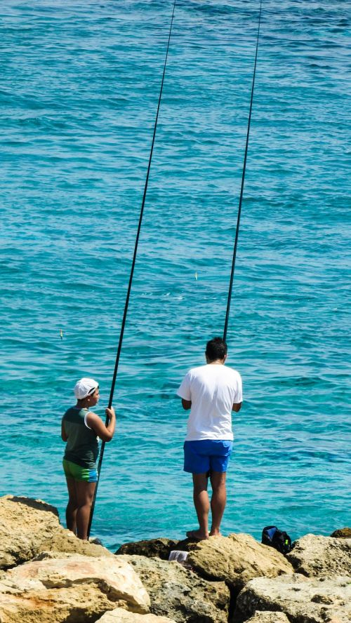 fishing father son summer