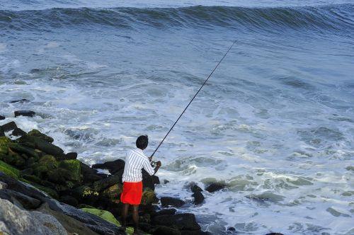 žvejyba,perumathura beach,trivandrum,ramachandran madhavankutty,jūros krantas,pakrantės,nuostabus paplūdimys,turizmas,pakrantė,pajūryje,pajūris,papludimys,vanduo