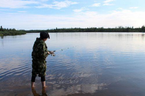fishing river nature