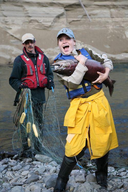 fishing catch chinook salmon