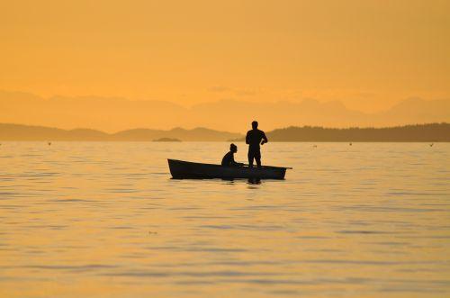 fishing sunset british columbia