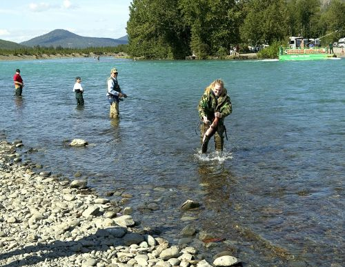 fishing river people