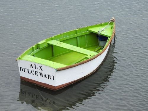 fishing boat green boot