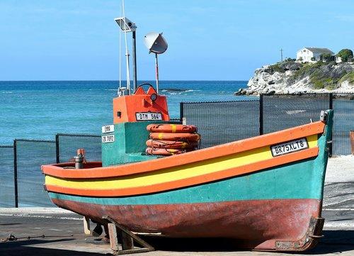 fishing boat  sea  dry dock