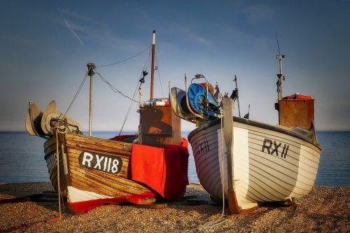 fishing boats fishing port beach