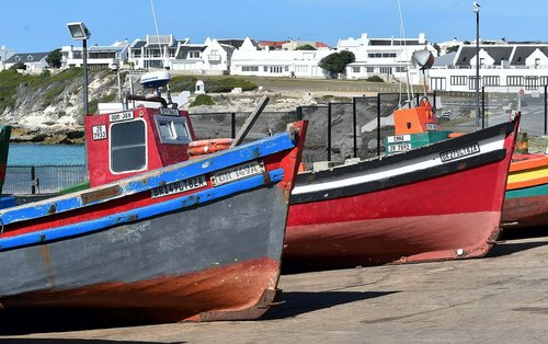 fishing boats  dry dock  south africa