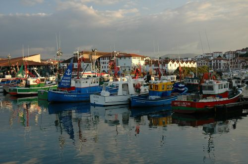 fishing boats port basque country