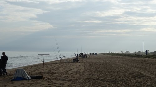 fishing contest  beach