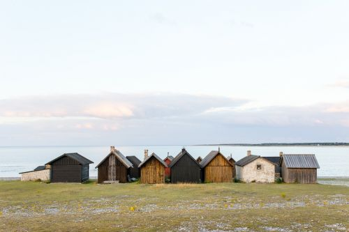 fishing huts beach huts nature
