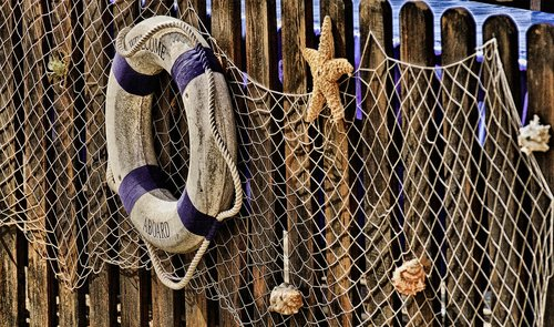 fishing net  lifebelt  decoration