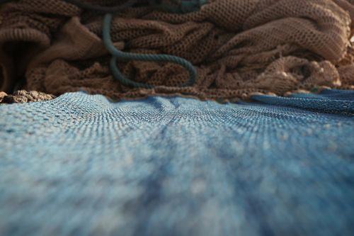 fishing net mesh close-up