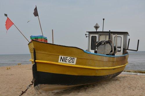 fishing vessel  cutter  beach