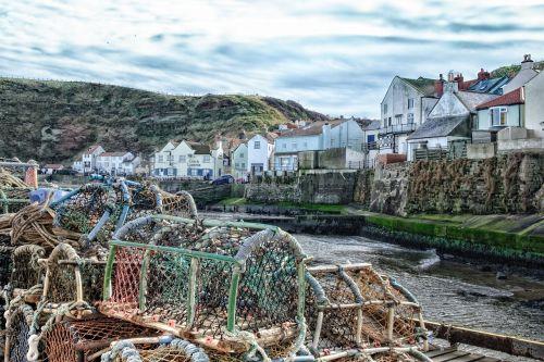 fishing village nets fisherman